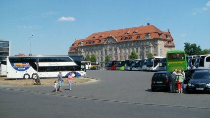 Leizig Bus Station at the Railway Station